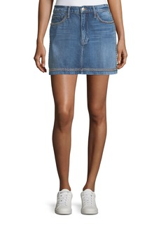 FRAME Le Studded Pencil Denim Mini Skirt
