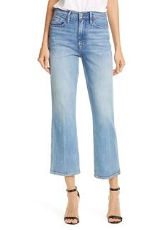 FRAME Le Sylvie High Waist Kick Boot Crop Jeans (Bobbi)