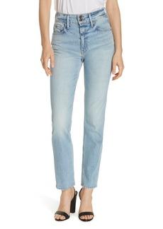 FRAME Le Sylvie Slender Straight Leg Jeans (Bianca)