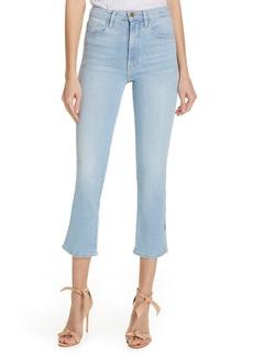 FRAME Le Sylvie Slit Hem Crop Slim Jeans (Superstar)