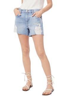 FRAME Le Ultra Baggy Distressed Denim Shorts (Lomond)