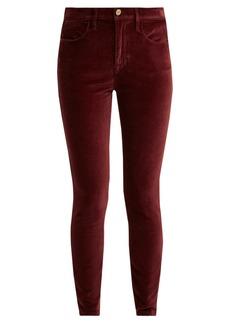 Frame Le Velveteen cotton-blend velvet jeans