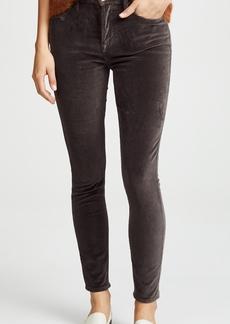 FRAME Le Velveteen High Skinny Jeans