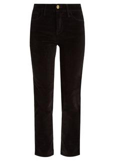 Frame Le Velveteen mid-rise straight-leg jeans