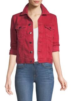 FRAME Le Vintage Button-Down Denim Jacket