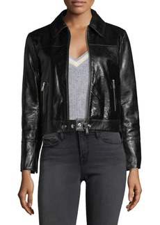 FRAME Leather Buckle Back Jacket