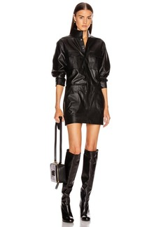 FRAME Leather Cargo Dress