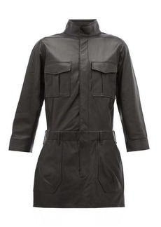 Frame Leather cargo shirtdress