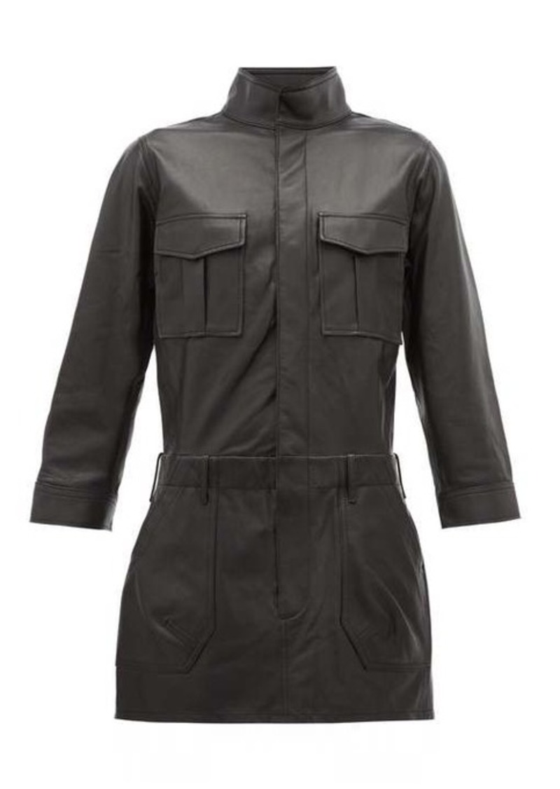 Frame Leather cargo shirtdress