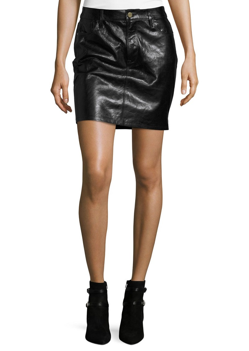 FRAME Leather Mini Skirt