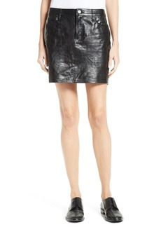 FRAME Leather Miniskirt