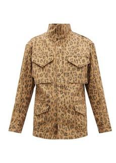 Frame Leopard-print cotton cargo jacket