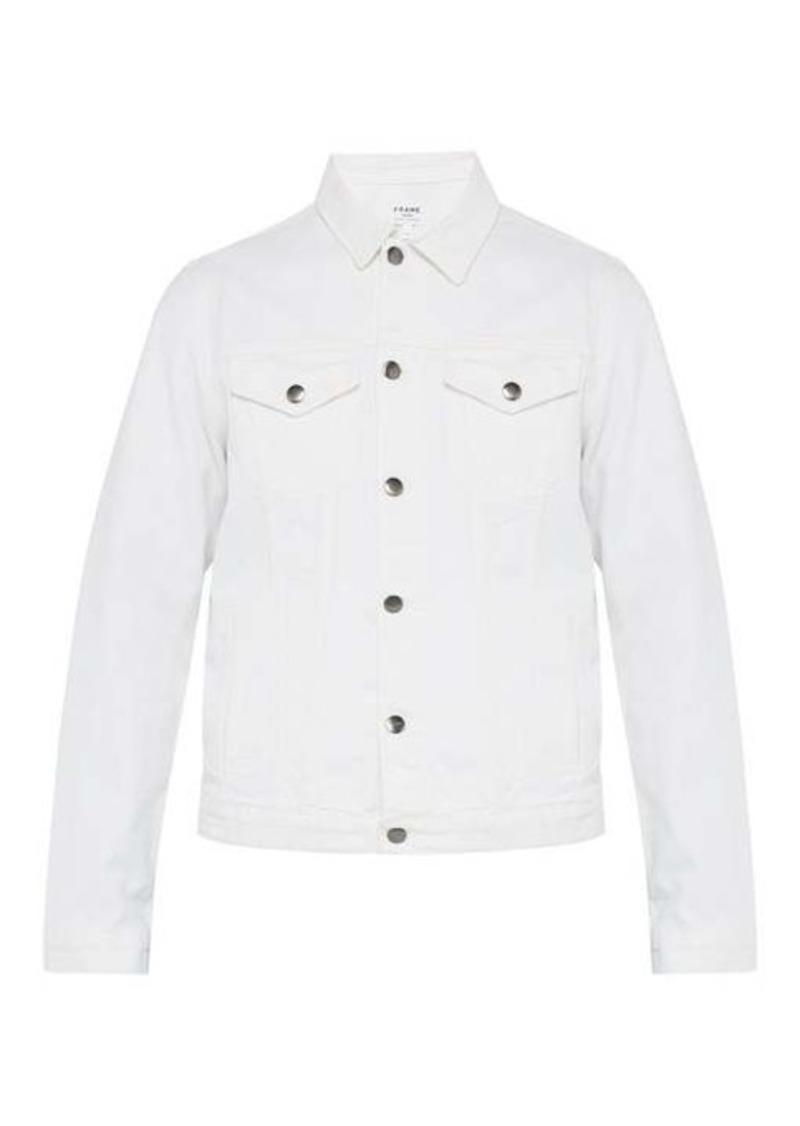 Frame L'Homme distressed denim jacket.