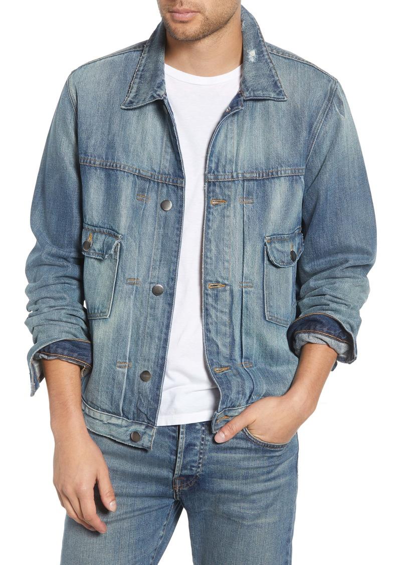 FRAME LHomme Distressed Denim Jacket