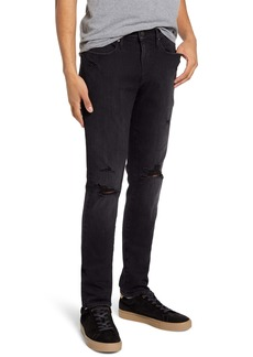FRAME L'Homme Ripped Skinny Fit Jeans (Villain)