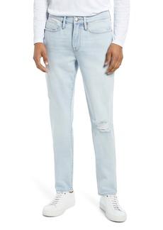 FRAME L'Homme Skinny Fit Jeans (Sugarcane Rips)