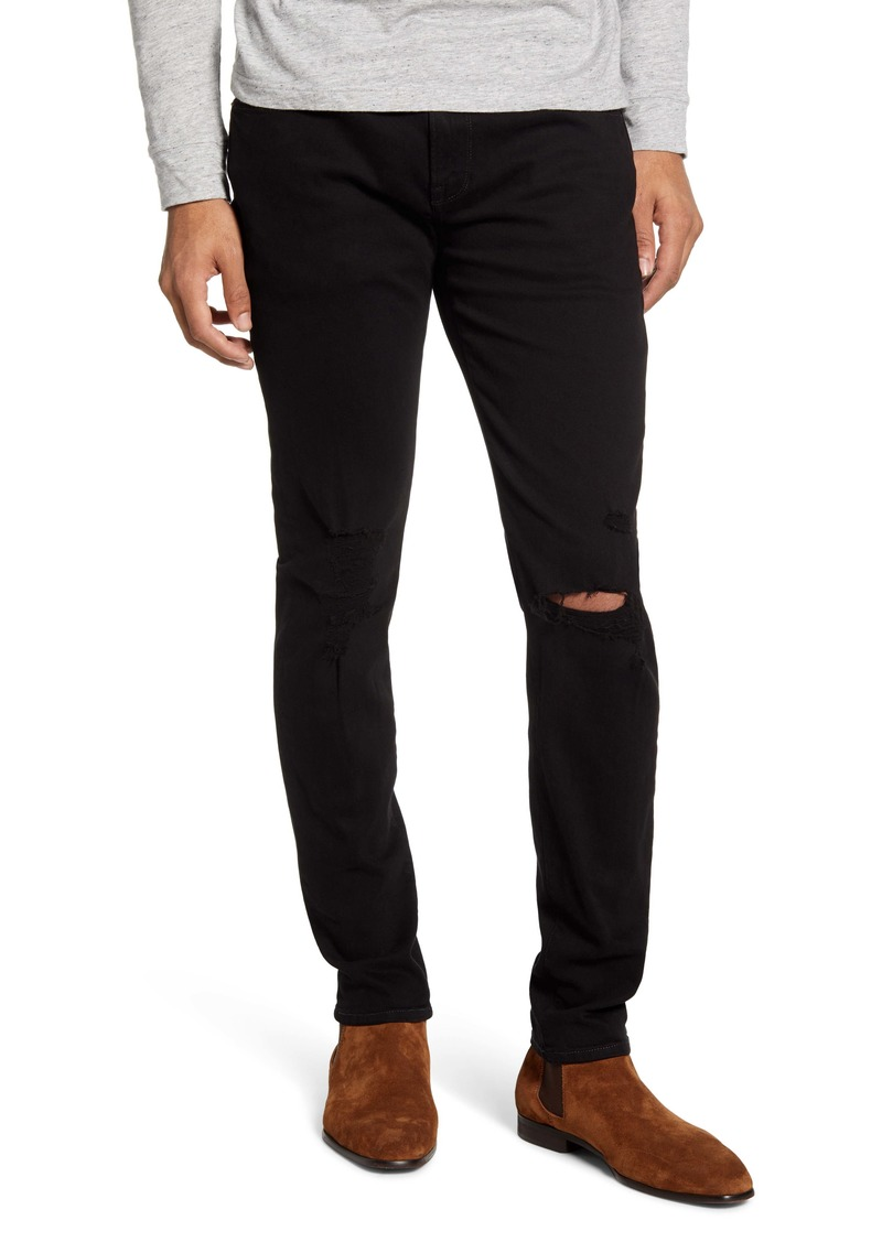 FRAME L'Homme Skinny Fit Ripped Jeans (Spaceland)