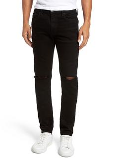 FRAME L'Homme Slim Fit Jeans (Noir Slits)