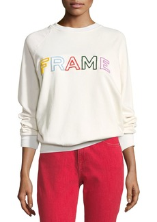 FRAME Logo Raglan Pullover Sweatshirt