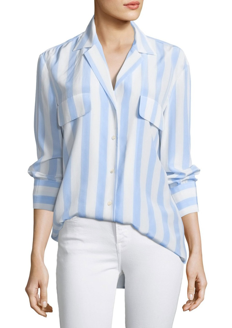 92e359bf9c2c33 On Sale today! FRAME FRAME Long-Sleeve Button-Front Striped Silk Blouse
