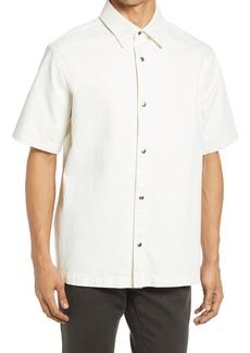 FRAME Loose Fit Short Sleeve Denim Shirt
