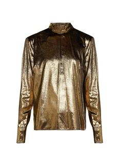 Frame Metallic velvet blouse