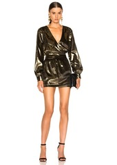 FRAME Metallic Velvet Dress