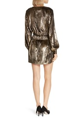 FRAME Metallic Velvet Minidress