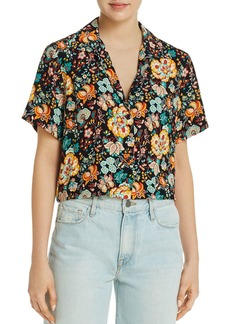 FRAME Mini Floral Short Sleeve Shirt