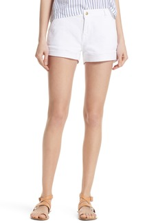 FRAME Mitered Denim Shorts (Blanc) (Nordstrom Exclusive)