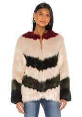 FRAME Mixed Faux Fur Coat
