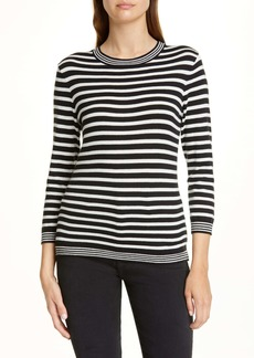FRAME Mixed Stripe Cotton & Cashmere Sweater