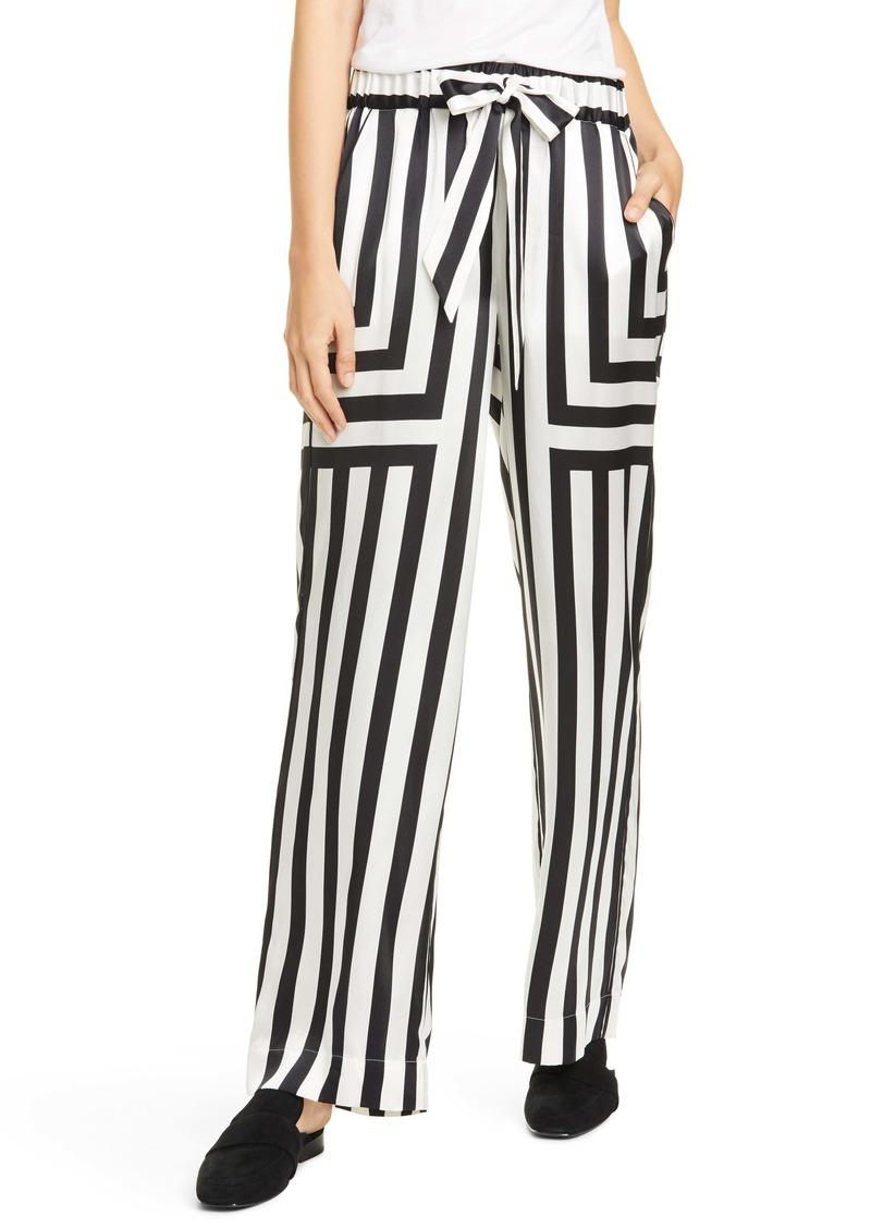 FRAME Mixed Stripe Silk PJ Pants