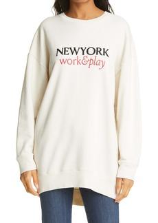 FRAME New York Work & Play Organic Cotton Sweatshirt