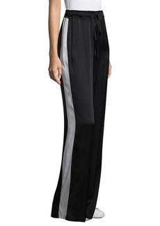 FRAME Noir Track Silk Pants