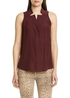 FRAME Notch Collar Silk Tank (Nordstrom Exclusive)