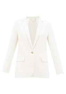 Frame Notch-lapel wool-blend blazer