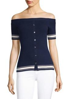 FRAME Off-The-Shoulder Sweater