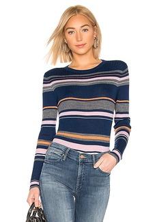 FRAME Panel Stripe Crew Neck Sweater