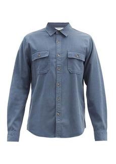 Frame Patch-pocket lyocell-blend twill shirt