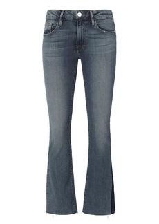 FRAME Patched Denim Crop Flare Jeans