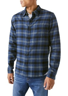 Frame Plaid Button-Up Shirt