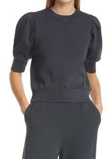 FRAME Pleated Sleeve Sweatshirt