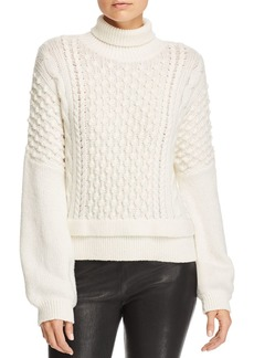 FRAME Popcorn-Stitch Turtleneck Sweater