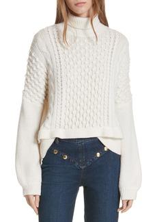 FRAME Popcorn Stitch Wool Blend Sweater