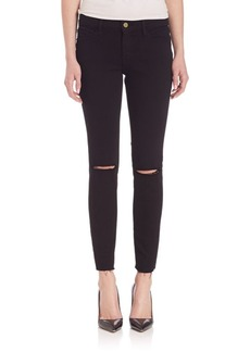 Le Skinny Distressed Jeans