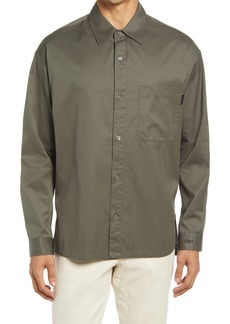 FRAME Relaxed Fit Button-Up Cotton Twill Shirt