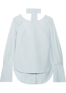 FRAME Reverse Striped Cotton-poplin Shirt