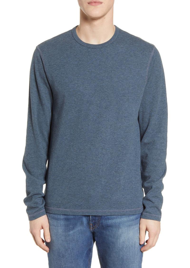 FRAME Reversible Cotton Crewneck Sweater