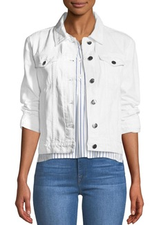 FRAME Rigid Re-Release Button-Front Denim Jacket